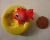 Sale--kawaii flexible silicone mold for goldfish cabochons  142---USA seller