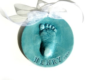Footprint Ornament -  Baby Footprint Ornament -  Footprint Mold Kit - Baby Footprint - New Baby Ornament - Baby's First Ornament - Baby Gift