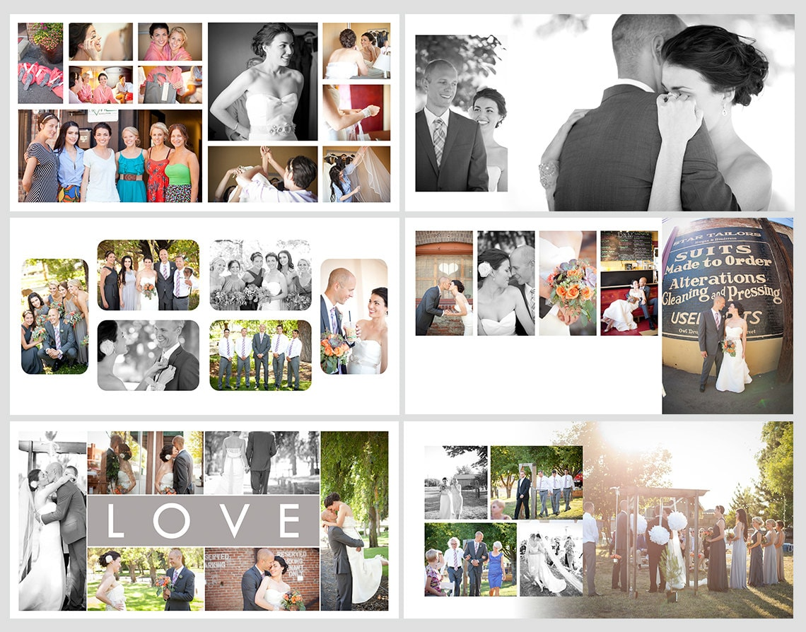 Square album template for photoshop 10 spreads 20 pages for Wedding photo album templates in photoshop