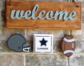 Football Themed Ornaments for Welcome Signs