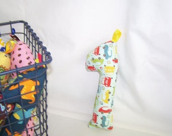 Baby Infant New Born Rattle Teething Toy Giraffe -- Cars -- FREE SHIPPING