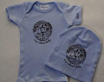 SALE! Honu Newborn Onesie & Beanie Set