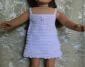 200 Slip and Panties  Crochet Pattern  For American Girl Dolls