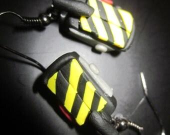 Ghostbusters Ghost Trap Hanging Earrings