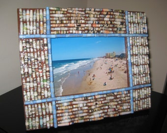 Upcycled/Recycled Paper Bead Picture Frame
