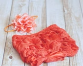 Baby Girl Petti Lace Bloomer Orange 6-12 Months Fall Photography Prop