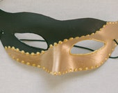 Male Masquerade Mask- gold and black mask