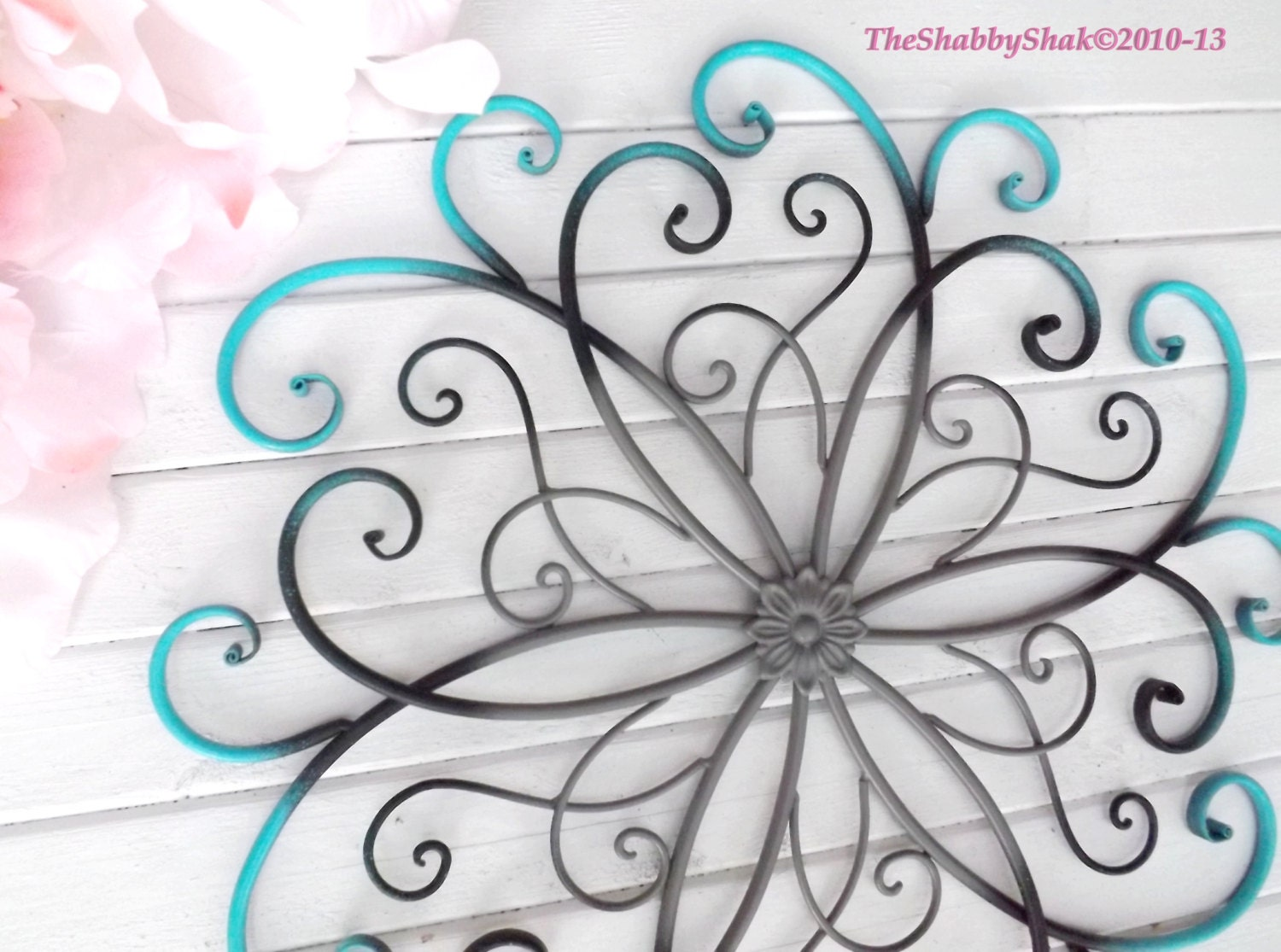 Large Metal Wall Art / Bedroom Wall Decor / by Theshabbyshak
