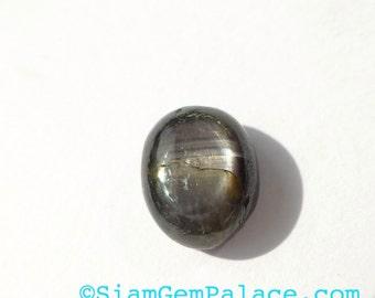 BLACK SaPPHiRe. Cabochon. 1pc. 3.80 cts. 7x9x5mm (S455A)
