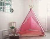 Color Indian Tent [Pink] by Toriee.(teepee playground for baby, toddler and kids)