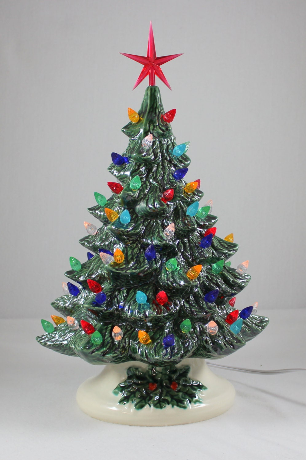 14 1/2 Ceramic Christmas Tree Handmade/Ceramic by ...