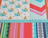 Patchwork in Aqua from Ruby Star Polka Dot by Melody Miller by the HALF YARD
