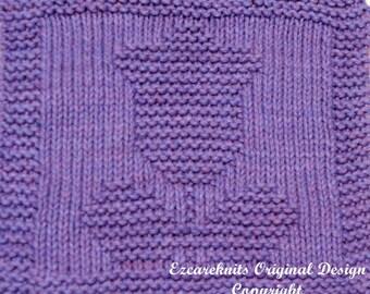 Knitting Cloth Pattern - TULIP 102 - PDF
