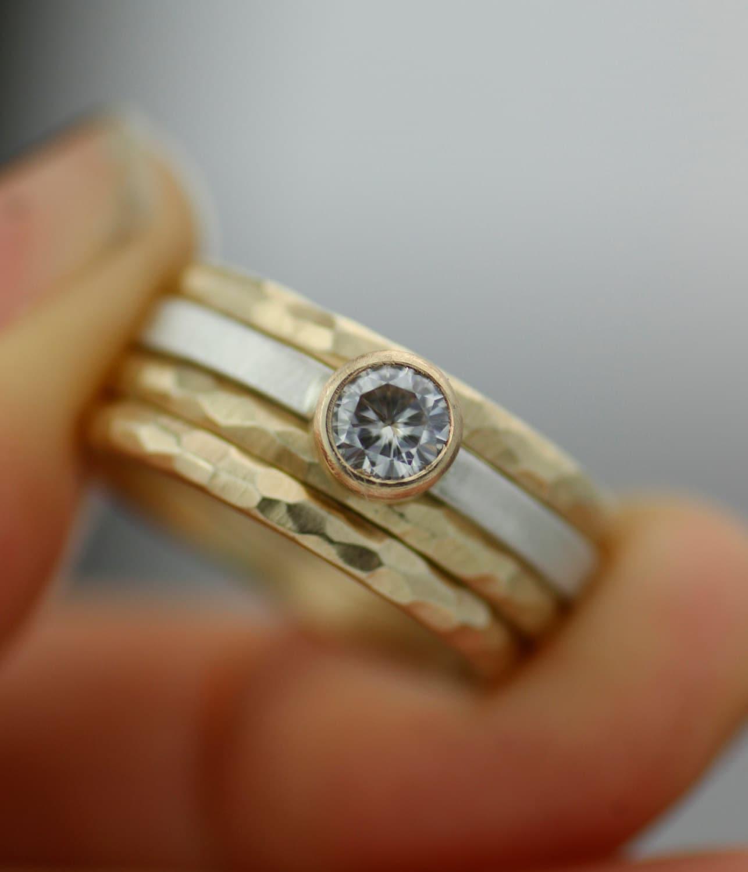 women s wedding ring set stacking rings modern