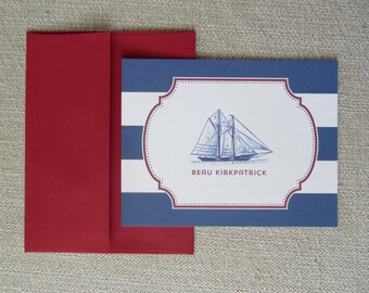 Nautical Notecards - Personalized
