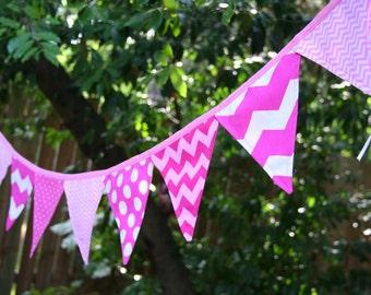 Pink chevron banner