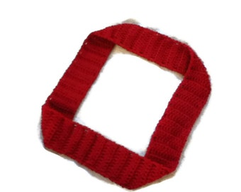 END of SEASON SALE - Deep Red Classic Scarf - Unisex Cozy Neck Wrap