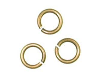 50 pcs Antique Gold 4.5mm 20g Open Jump Ring // Antique Gold Jump Ring // Antique Gold 4.5mm Jump Ring // Antique Gold Open Jump Ring