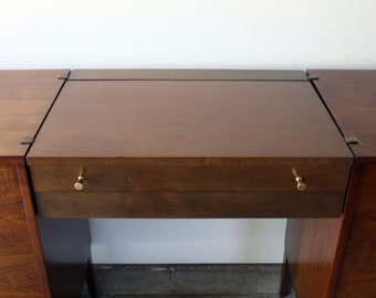 Mid Century Modern Planner Group Cantilevered Vanity by Paul McCobb