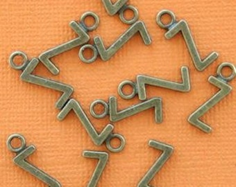 8 Letter Z Alphabet Charms Antique Bronze Tone Great for So Many Projects - BC738