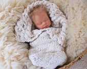 Pattern for the Heirloom Organic Cabled Baby Bunting, Knit Cocoon