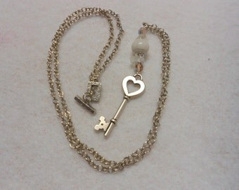 Key To My Heart Moonstone Valentine Pendant