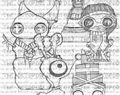 INSTANT DOWNLOAD Santa's Grotto set of 6 digital stamp images