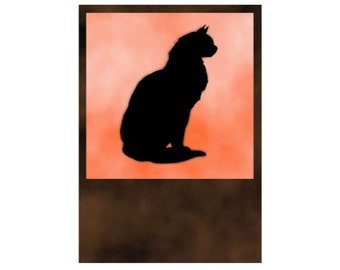 Cat Digital Download Halloween Art jpg and png