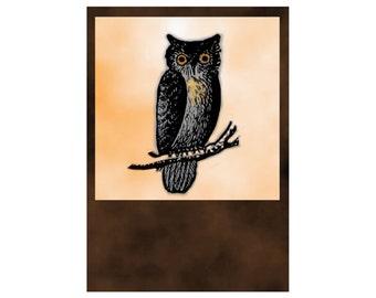 Owl Digital Download Halloween Art jpg and png