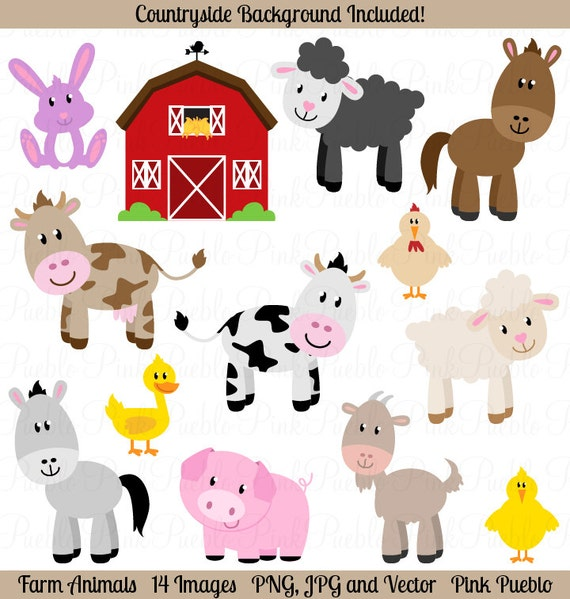 Clip Art Farm Animals Clipart farm animals clipart clip art barnyard by pinkpueblo art