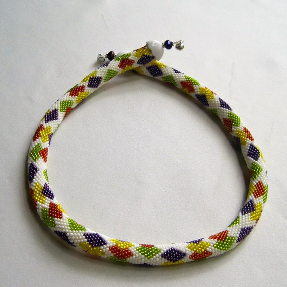 crochet bead necklace instructions