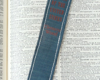Book Spine BOOKMARK /// A Complete History of the United States  /// Teacher Gift