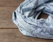 Light Blue Infinity Scarf Versatile Cowl chunky Loop cowl urban Circle scarf Modern Baby Blue scarf