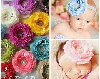 Baby headband,Baby Headbands,newborn headband,Girl Headband, Flower Headband, Hair Bows, Hair Clips, Flower Hair Bows.CHOOSE YOUR COLOR