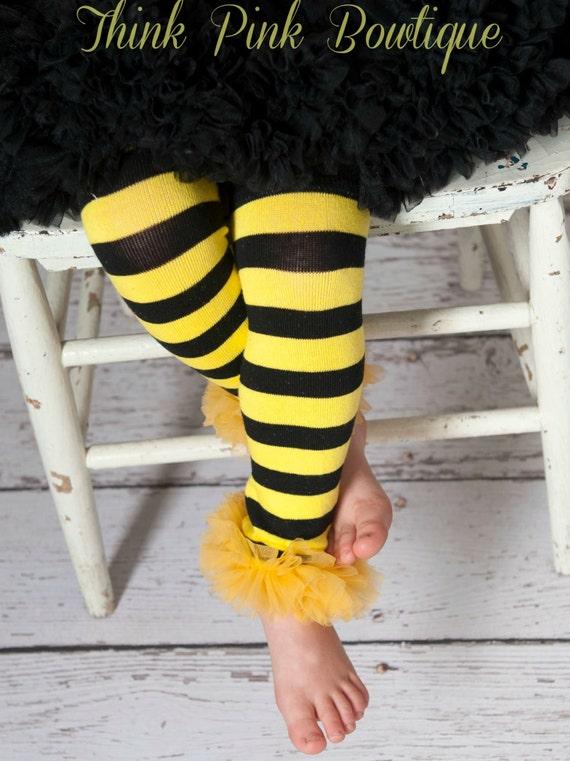 Bumble Bee leg warmers, baby leg warmers, infant leg warmers, children leg warmers, leg warmers, halloweenn leg warmers, girls leg warmers.