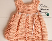 Crochet Pattern: Ribbon & Lace Infant Dress and Afghan set