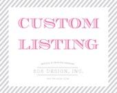 Custom Listing for FAITH