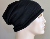 Mens hat Man Slouch Beanie Slouchy Hat Winter Adult Teen  Black Mens Christmas Gift