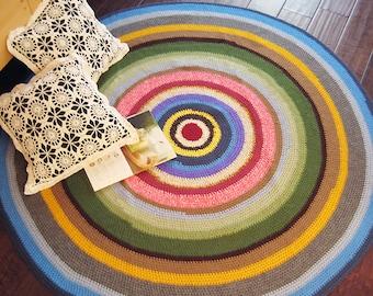 Multi Color Round Rug / Floor Mat  53x53