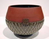 Hand Carved Ceramic Bowl