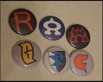 Pokemon Team Logo Pins