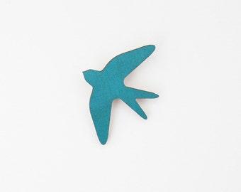 SNUG.BIRD brooch / teal