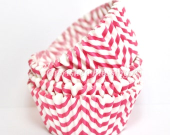Cupcake Liners, Hot Pink Chevron Cupcake Liners, Buy One Get One, Hot Pink Baking Cups, Chevron Cupcake Cups, Chevron Wedding, Baby Shower