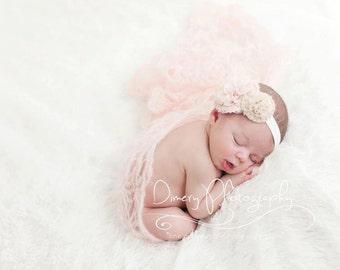 Baby headband, newborn headband, adult headband, child headband and photography prop chiffon headband Adult headband Baby headband hairbow