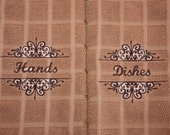 Hands and Dishes Kitchen Towel Set - Dish Towels - Hand Towels - Mother's Day