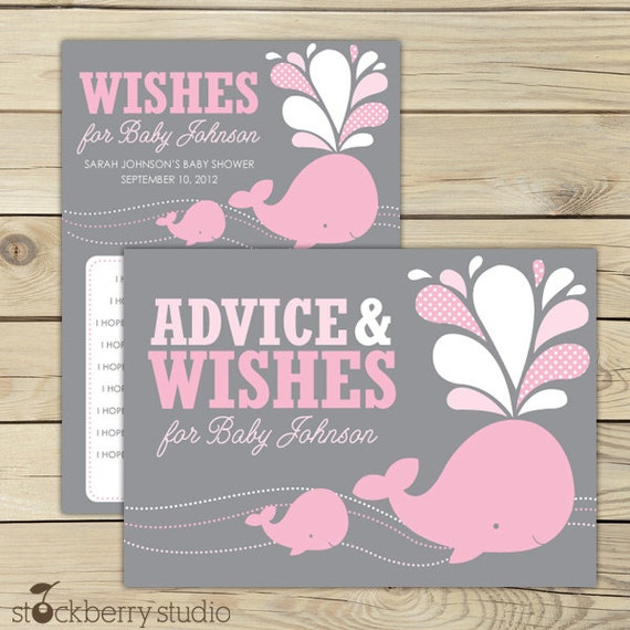 baby shower wishes for baby girl pink and gray baby shower well