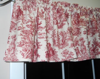 Waverly Rustic Life valance country red