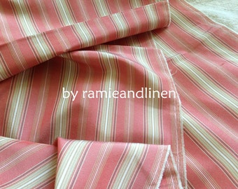 """silk fabric, yarn dyed stripes pure silk fabric, 1.6 meters by 42"""" wide, last piece, remnant"""