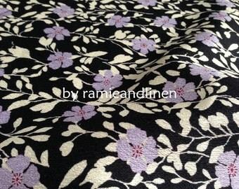 "Japanese Kimono cotton fabric, sakura floral print cotton fabric, half yard by 44"" wide"