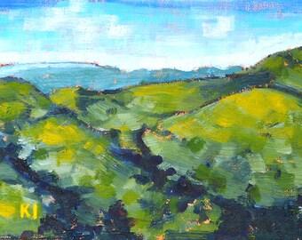 Santa Ynez, California landscape painting